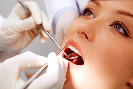 A patient being treated during a dental emergency in our Los Angeles location