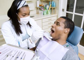 dentist talking to patient photo
