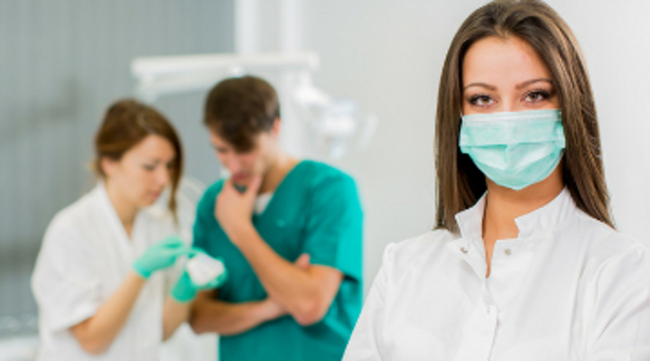 dentist posing in a photo