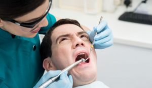 patient scared of the dental procedure photo